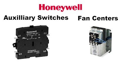Honeywell Auxilliary Switches and Fan Centers