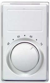 M601W Marley Qmark Single Pole Wall Mount Thermostat - Rating: 22 amps, 120-277 volts