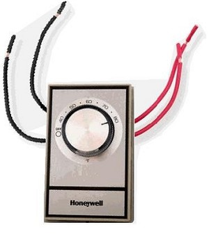 T498B1553  Honeywell Double Pole Non-Programmable Line Voltage Thermostat