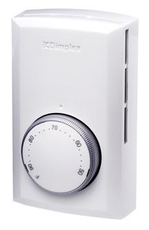 Dimplex Electromode Td522w Double Pole Line Voltage Thermosta