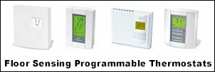 Floor Sensing Programmable Thermostats