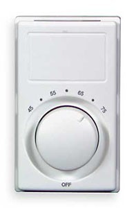 M602W Marley Qmark  Double Pole Wall Mount Thermostat - Rating: 22 amps, 120-277 volts