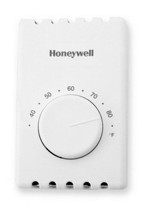T410A1013 Honeywell Aube Non Programmable Thermostat - 22 amps at 120/208/240 VAC - 19 amps at 277 VAC - 2 wire SPST