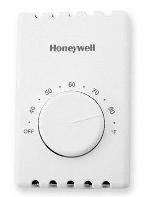 T410B1004 Honeywell Line Voltage Non Programmable Thermostat - 22 amps at 120/208/240 VAC - 19 amps at 277 VAC - 4 wire DPST